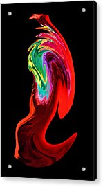 In A Frenzy Acrylic Print by Karen M Scovill