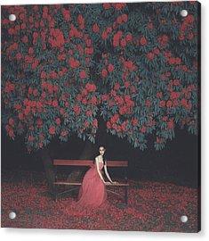 In A Garden Acrylic Print by Anka Zhuravleva