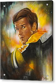 In A League Of His Own Acrylic Print by Gary McLaughlin