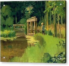 In A Park Acrylic Print by Edouard Manet