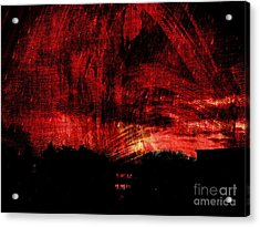 In A Red World Acrylic Print
