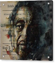 In A Sentimental Mood Duke Ellington Acrylic Print by Paul Lovering