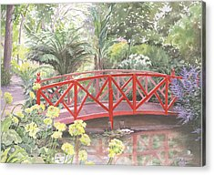 In Abbotsbury Subtropical Gardens. Acrylic Print by Maureen Carter
