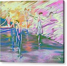 In Ballet Class Acrylic Print by Cynthia Sorensen