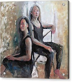 Daughters Of The Artist Acrylic Print by Becky Kim