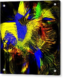 In Chaos - Yet Here Is My Praise Acrylic Print by Fania Simon