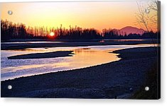 The Fraser River Acrylic Print