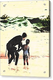 In Daddy's Arms Acrylic Print
