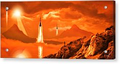 Acrylic Print featuring the photograph In Defense Of The Orange Planet by Anthony Citro