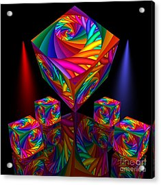 In Different Colors Thrown -8- Acrylic Print