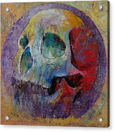 Vintage Skull Acrylic Print by Michael Creese