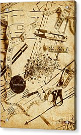 In Fashion Of Vintage Sewing Acrylic Print