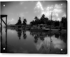In Florida, A Boat Acrylic Print