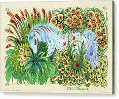 In Fragrant Herbs Acrylic Print by Olena Kulyk