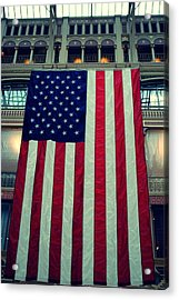 In God We Trust American Flag Milwaukee Wi Acrylic Print by Laura Pineda