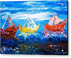 Acrylic Print featuring the painting In Harmony by Piety Dsilva