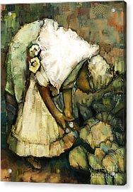 In Her Garden Acrylic Print