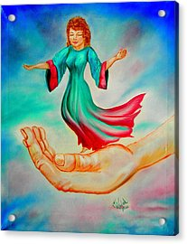 In His Hand Acrylic Print
