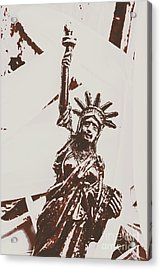 In Liberty Of New York Acrylic Print by Jorgo Photography - Wall Art Gallery