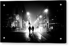 In Love - Dublin, Ireland - Black And White Street Photography Acrylic Print by Giuseppe Milo