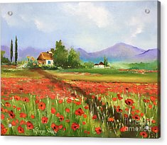 In Love With Toscana's Poppies Acrylic Print