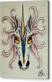In Memory Of The Long Lost Unicorn Acrylic Print