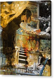 Crumble-metamorphosis Begins Acrylic Print