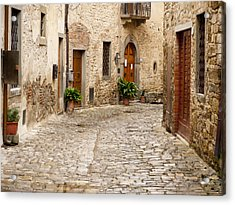 In Montefioralle Acrylic Print by Rae Tucker
