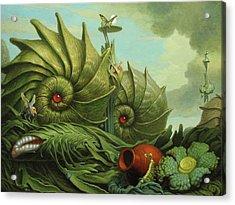 In My Garden Acrylic Print by Jim Thiesen