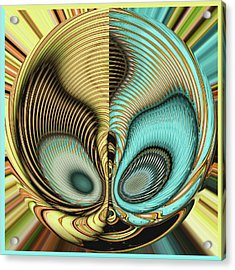 Acrylic Print featuring the digital art In My Head by Wendy J St Christopher