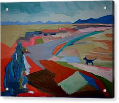 Acrylic Print featuring the painting In My Land by Francine Frank