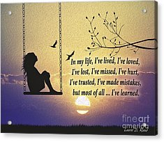 In My Life Acrylic Print