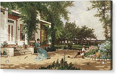 In My Neighbours Garden Acrylic Print by Alfred Thompson Bricher