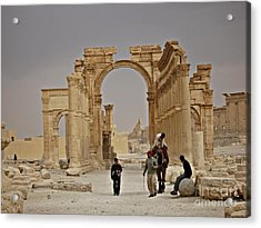 Acrylic Print featuring the photograph In Old Palmyra by Cendrine Marrouat