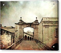 In Old San Juan Acrylic Print by Julie Palencia