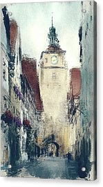 In Old Town Acrylic Print