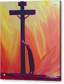 In Our Sufferings We Can Lean On The Cross By Trusting In Christ's Love Acrylic Print