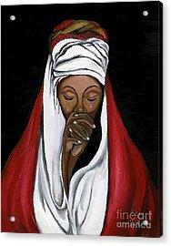 In Prayer  Acrylic Print by Toni  Thorne