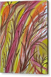 In Rushes Fall Acrylic Print by Sharyn Winters