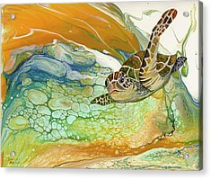 Acrylic Print featuring the painting In Search Of Sea Grass  by Darice Machel McGuire