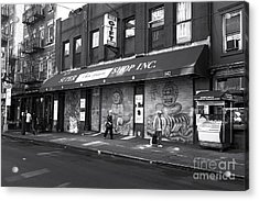 In Sync On Mulberry Street Mono Acrylic Print