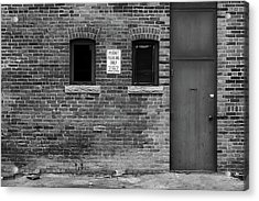 Acrylic Print featuring the photograph In The Alley by Monte Stevens