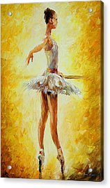 In The Ballet Class Acrylic Print by Leonid Afremov