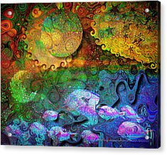In The Beginning Acrylic Print by Mimulux patricia no No