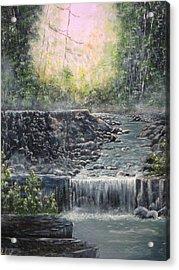 In The Beginning Acrylic Print by Sheila Banga