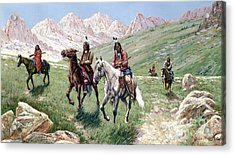 In The Cheyenne Country Acrylic Print by John Hauser