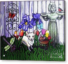 In The Chihuahua Garden Of Good And Evil Acrylic Print