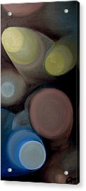 Acrylic Print featuring the painting In The Circles Of The Light by Saad Hasnain