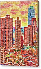 Acrylic Print featuring the photograph In The City by Barbara Manis