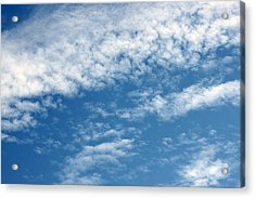 In The Clouds Acrylic Print by Evelyn Patrick